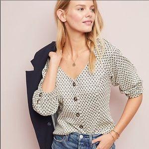 Anthropologie Coralie Top NWT Blouse XL Knit Shirt